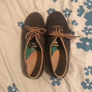Grey Flannel Floral Lace Up Keds